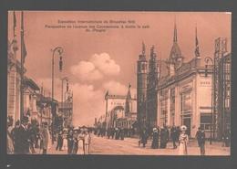 Brussel / Bruxelles - Exp. Internationale 1910 - Perspective De L'Avenue Des Concessions, à Droite Le Café Du Peuple - Expositions Universelles