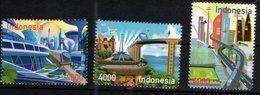 INDONESIA, 2018, MNH, ROAD TO 2045, TRAINS, PLANES, 3v - Trains