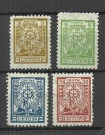 LITAUEN Lithuania Michel 210 - 211 & 213 - 214 * - Litauen