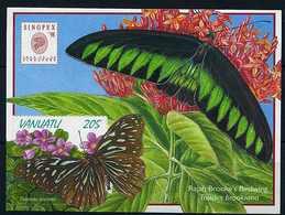 Vanuatu ** Bloc 32 - Papillons - Vanuatu (1980-...)