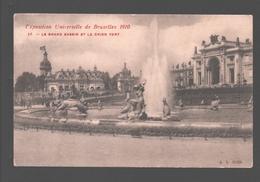 Brussel / Bruxelles - L'Exposition Universelle De Bruxelles 1910 - Le Grand Bassin Et Le Chien Vert - Expositions Universelles