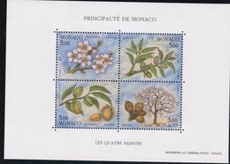 1993, Monaco, 2100/03 Block 57, Die Vier Jahreszeiten (XI). MNH ** - Blocs