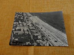 CARTOLINA RICCIONE-LA GRANDE SPIAGGIA DALL'ALTO-VIAGG.1961-VERA FOTOGRAFIA - Rimini