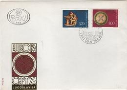 SCUL-L2 - YOUGOSLAVIE FDC EUROPA 1976 - FDC