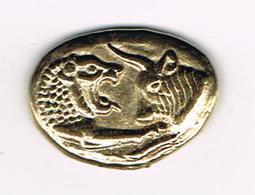 //  PENNING  Q - I CROESUS STATER VI ° S ANTE J.C - Pièces écrasées (Elongated Coins)