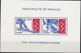 1994, Monaco, 2167/68 Block 61, Olympische Winterspiele, Lillehammer.  MNH ** - Blocs