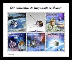 Guinea-Bissau 2019 Mih. 10828/32 Space. Launching Of Luna 1. Korolev. Gagarin. Tereshkova MNH ** - Guinea-Bissau