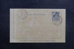GUYANE - Entier Postal ( Carte Lettre ) Type Alphée Dubois Surchargé Oblitération De Cayenne En 1893 - L 41025 - Guyane Française (1886-1949)
