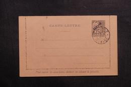 GUYANE - Entier Postal ( Carte Lettre ) Type Alphée Dubois Surchargé, Oblitération De Cayenne En 1893 - L 41026 - Guyane Française (1886-1949)