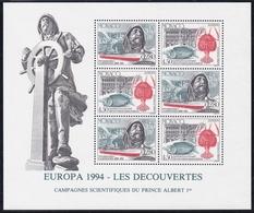 1994, Monaco, 2178/79 Block 63, Europa: Entdeckungen Und Erfindungen. MNH ** - Blocks & Sheetlets
