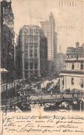 "M08597 ""PARK ROW FROM BROOKLYN BRIDGE TERMINAL-N.Y. CITY""ANIMATA-TRAMWAY-CART. ORIG. SPED. 1903 - Brooklyn"