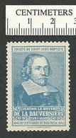 B45-72 CANADA Societe St-Jean-Baptiste SSJB 16b MNH Dauversiere Blue - Local, Strike, Seals & Cinderellas