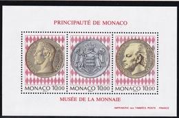 1994, Monaco, 2191/93 Block 64, Planung Des Briefmarken- Und Münzenmuseums. MNH ** - Blocs