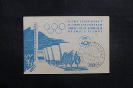 FINLANDE - Oblitération Des Jeux Olympiques D'Helsinki Sur Document En 1952 - A Voir - L 41028 - Lettres & Documents