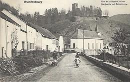 BRANDENBOURG  -  RUE VILLAGE ET RUINES - DORFPARTIE MIT SCHLOSSRUINEN  Manufacture De Cartes  P.Houstraas,Luxembourg - Cartes Postales