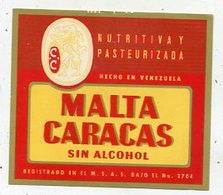 043 Beer Label -  Venezuela - Cervezera Nacional - Bier