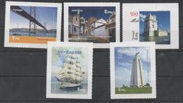 PORTUGAL ,2016, MNH,LISBON, ALENTEJO, BRIDGES, TOWERS, CASTLES, SHIPS, 5v - Castles