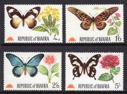 NIGERIA BIAFRA - 1968 BUTTERFLIES SET (4V) FINE MNH ** SG SEE NOTE BELOW SG 17-21 - Nigeria (1961-...)