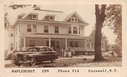 "M08598 ""MAPLEHURST INN - PHONE 614 - CORNWALL-N.Y.""ANIMATA-AUTO '50-CART. ORIG. NON SPED. - Bar, Alberghi & Ristoranti"