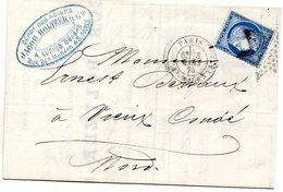 Paris - LAC Affr N° 60A Obl Etoile 5 Càd Bt Magenta - Marcophilie (Lettres)