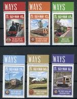 Isle Of Man MiNr. 1860-65 Postfrisch MNH Eisenbahn (H1258 - Man (Insel)