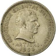 Monnaie, Uruguay, 10 Centesimos, 1953, Uruguay Mint, TB+, Copper-nickel, KM:35 - Uruguay