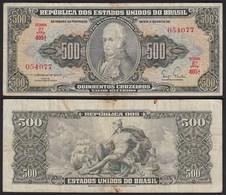 Brasilien - Brazil 500 Cruzaros (1955/60) Pick 164a F (4) Sig.3   (24926 - Banknoten