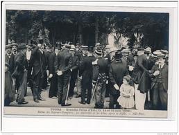 TOURS - Grande Fête D'Eté 1908 - Revue Des Sapeurs-Pompiers: Les Autorités Et Les élus Après Le Défilé - Très Bon état - Tours