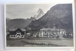 AK Zermatt Hotel Victoria Et Le Cervin Ungebraucht #PF584 - VS Wallis