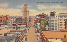 """M08600 """"TEXAS STREET-LOOKING EAST-EL PASO-TEXAS""""ANIMATA-CART. ORIG. SPED. 1955 - El Paso"""