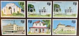 Fiji 1979 Architecture Buildings Lighthouse Set With 1983 & 1991 Imprint Date MNH - Fiji (1970-...)