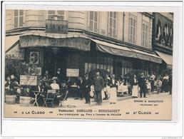"""SAINT CLOUD - """"""""""""""""A La Clodo"""""""""""""""", Restaurant Gabillon-Boussaguet, 1, Rue D'Orléans - Très Bon état - Saint Cloud"""
