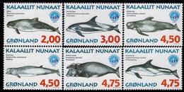 Greenland - 1998 -  Whales Of Greenland - International Year Of The Ocean - Mint Stamp Set - Grönland