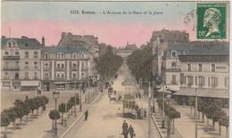 Ille  Et  Vilaine :  RENNES  ;  Avenue De La  Gare ( Tramway - Taxi ) - Rennes