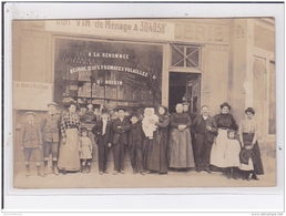 NEUILLY PLAISANCE : Carte Photo Du Magasin ROISIN (beurre - Oeuf - Fromage) Vers 1910 - Très Bon état - Neuilly Plaisance