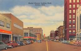 "M08601 ""MARKET AVENUE LOOKING NORTH-CANTON-OHIO""AUTO '50-CART. ORIG. SPED. 1955 - Stati Uniti"