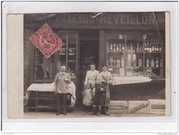 ABBEVILLE : Carte Photo De L'épicerie VALLOIS REVEILLON - état (un Gros Plis D'angle) - Abbeville