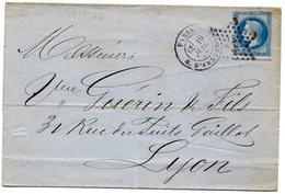 Paris - LSC Affr N° 29B Obl Etoile 18 - Càd R. D'Amsterdam - Marcophilie (Lettres)