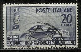 1950 Italia Repubblica: Salone Auto - Fil. Ruota ND, Usato - 6. 1946-.. Republic