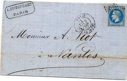 Paris - LAC Affr N° 29B Obl Etoile 24 R. De Cléry (2 Juin 1871, Reprise Du Courrier Après La Commune, Voir Le Texte) - 1849-1876: Classic Period