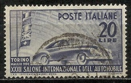 1950 Italia Repubblica: Salone Auto - Fil. Ruota CD, Usato - 6. 1946-.. Republic