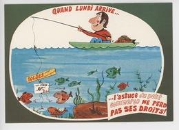 Quand Lundi Arrive... L'astuce Du Petit Commerce... - La Pêche R. Allouin Illustrateur (cp Vierge N°0005) - Humour
