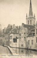 LOUVAIN-LEUVEN - Eglise Ste-Gertrude, Vue De La Rue Mi-Mars - Carte Précurseur N'ayant Pas Circulé - Leuven