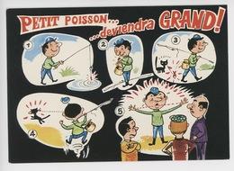 Petit Poisson... Deviendra Grand...... - La Pêche R. Allouin Illustrateur (cp Vierge N°0001) - Humour