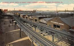 "M08603 ""DELAWARE AVENUE NORTH OF MARKET STREET-SHOWING ELEVATED RAILROAD-PHILADELPHIA-PA""FERROVIA-CART. ORIG. SPED. - Philadelphia"