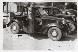 """FO--160-- FOTO ORIGINALE - AUTOMOBILE """" FIAT TOPOLINO CONVERTIBILE"""" SIGNORA - Automobili"""