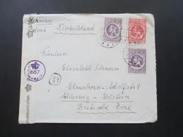 Dänemark 1946 Zensurbeleg Tondern - Elmshorn Udlandspostkontrollen Dänische Zensur 657 Danmark - 1913-47 (Christian X)