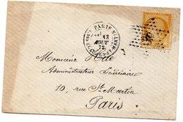 Paris - Env Sans Corresp Affr N° 59 Obl Etoile 39 - Càd R. Des Ecluses-St-Martin - Marcophilie (Lettres)