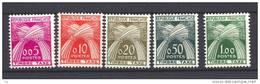 France  -  Taxes :  Yv  90-94  *            ,       N2 - 1960-.... Nuovi