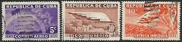 Cuba  1936   Sc#C22-3, E9  3 Better Used  2016 Scott Value $4.60 - Unused Stamps